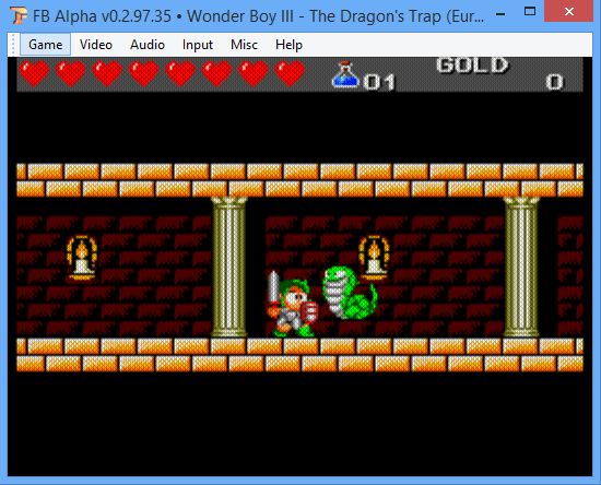 Master System Wonder Boy III in FB Alpha